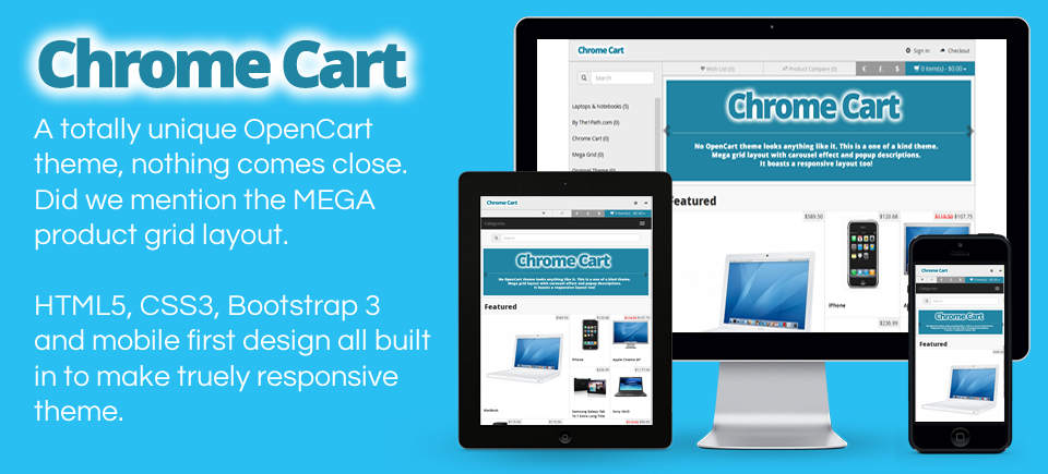 Chrome Cart - Responsive OpenCart theme with MEGA grid