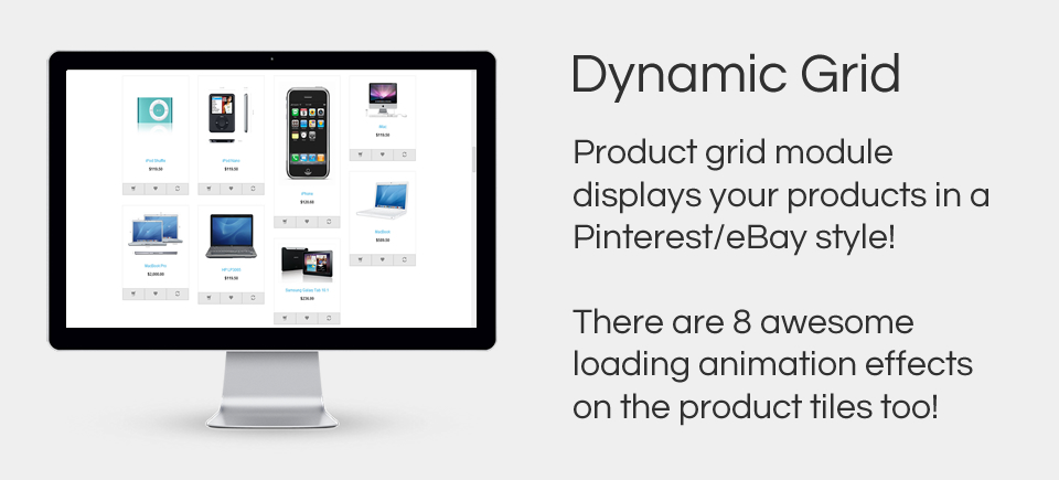 Dynamic Grid - Pinterest style product grid