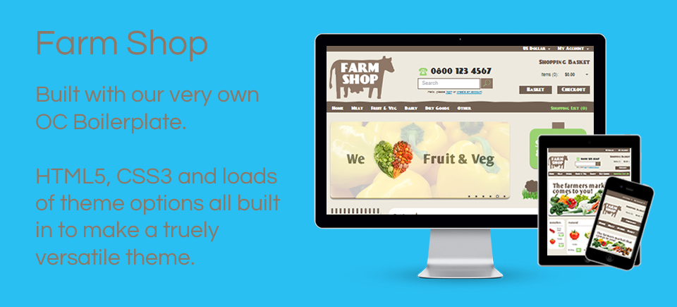 Farm Shop - Responsive theme for Opencart