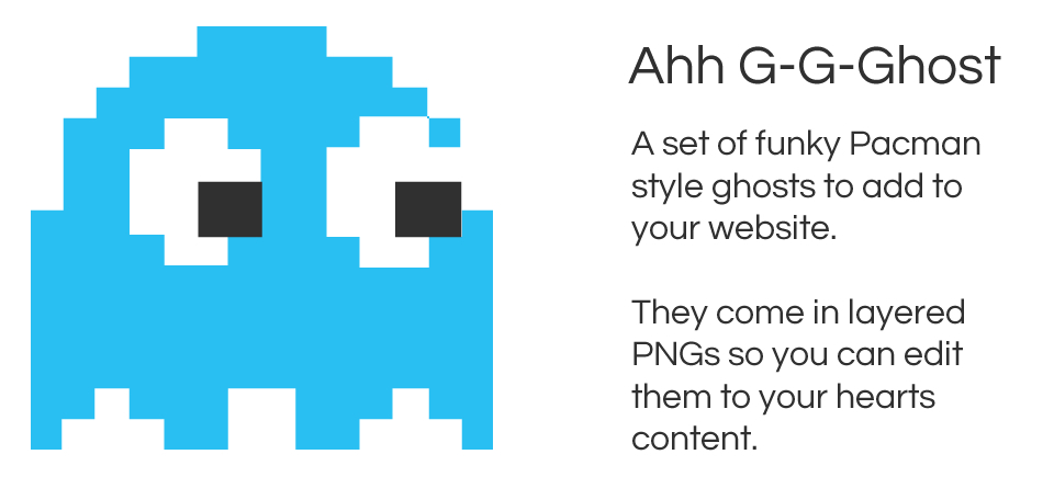 G G G Ghost - Pacman style graphics