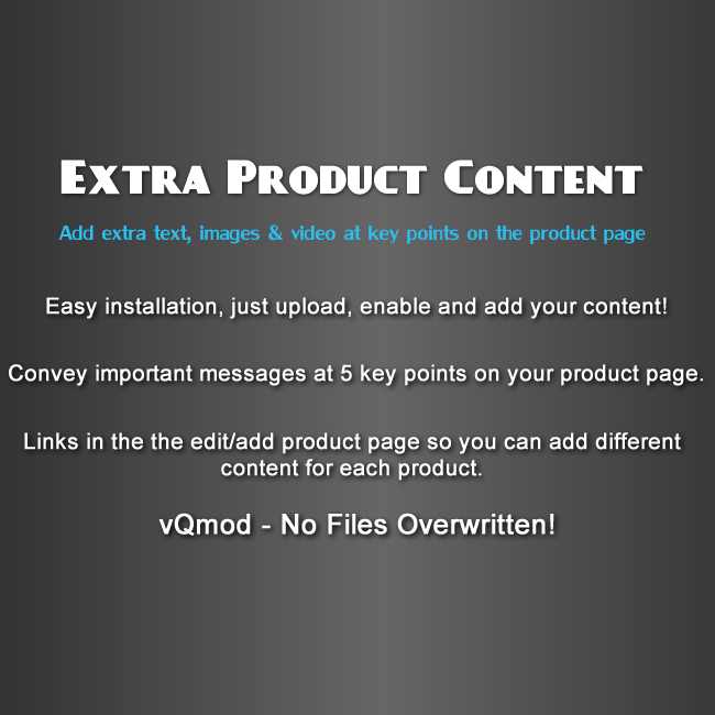 Extra Product Content